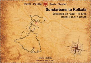 Map from Sundarbans to Kolkata
