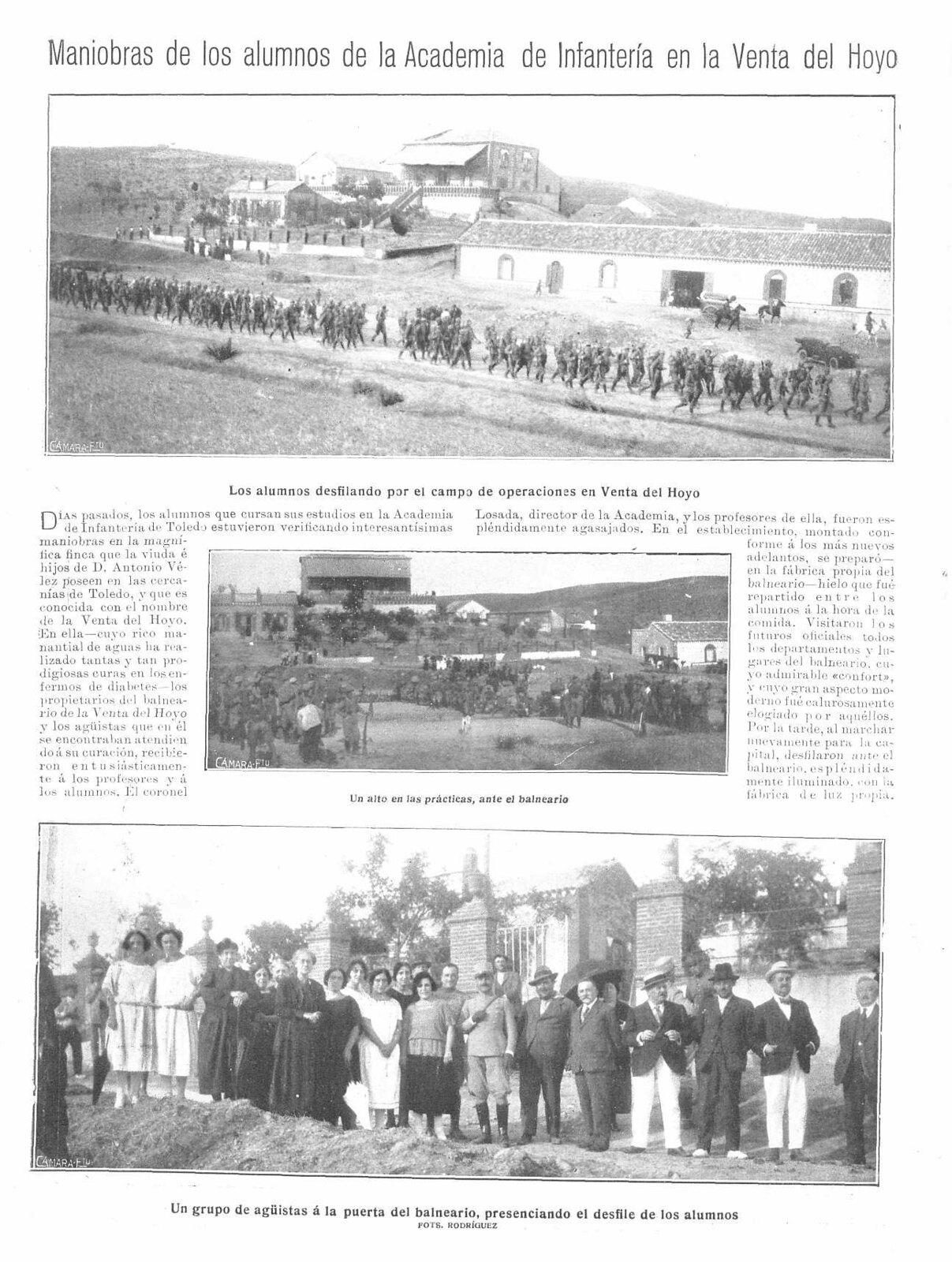 4 de octubre de 1922, reportaje de la Venta del hoyo en Mundo Gráfico