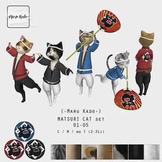 {-Maru Kado-} MATSURI CAT set