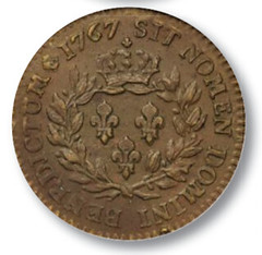 1767 French sol reverse