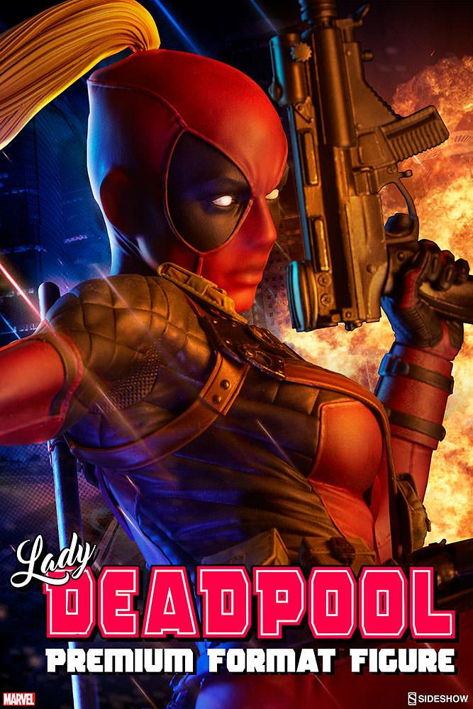 歡迎加入歡樂死侍軍團!!Sideshow Collectibles【死侍小姐】Lady Deadpool 1/4 比例全身雕像作品