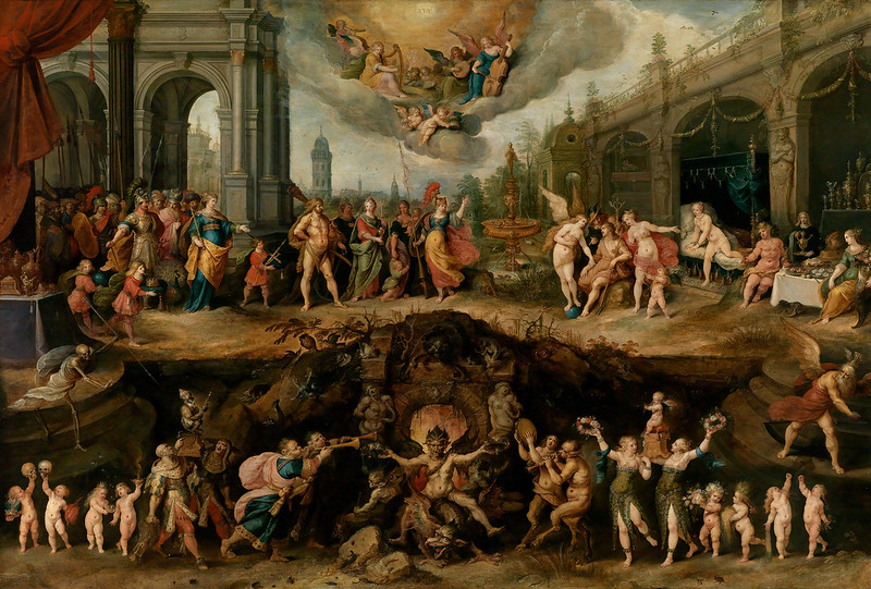 Frans Francken the Younger -  Mankind's Eternal Dilemma, The Choice Between Virtue and Vice,  1633