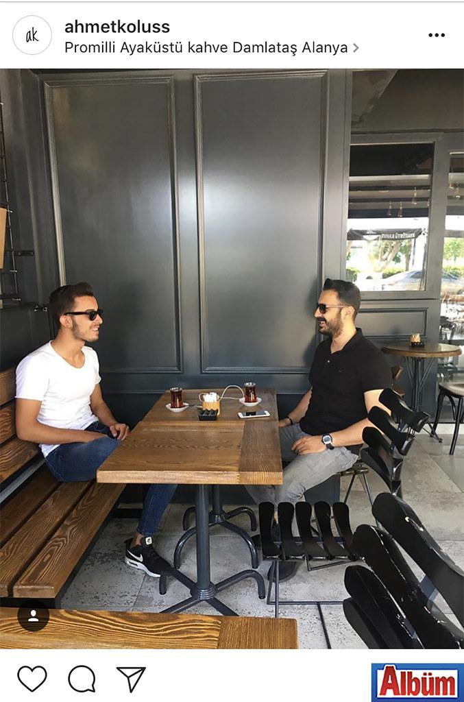 Ahmet Kölüş, arkadaşı Mehmet Ertunç ile Promilli Ayaküstü Kahve Damlataş'tan bu fotoğrafı paylaştı.