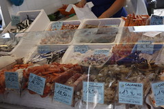 Fish market , tuesdays in Bibione, Italy