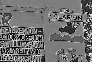 Mural in the City - Clarion Alley bw