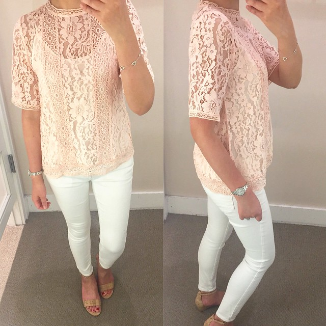 LOFT Floral Lace Top, size XXSP