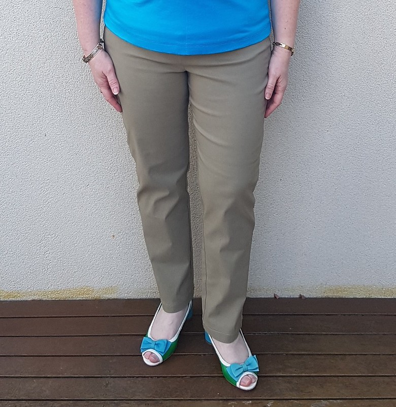 Style Arc Sage stretch pants in bengaline