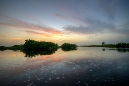 everglades florida fl fla swamp theeverglades water sunset sun sky clouds hdr