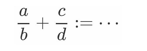 数学 分数 有理数 加法