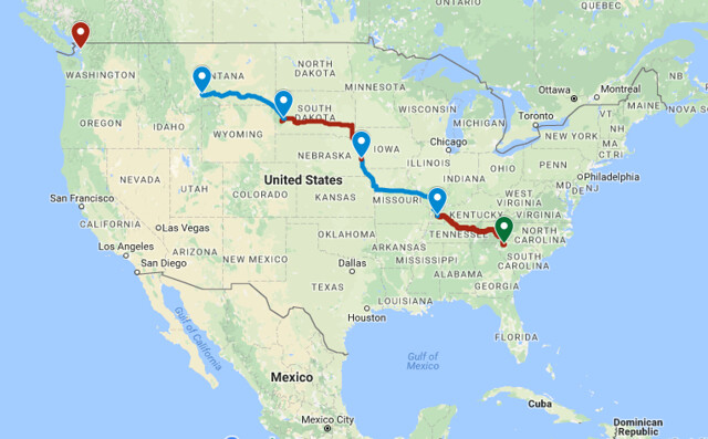 Day Four Route
