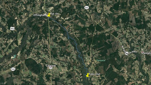 Lynches River Paddle Route