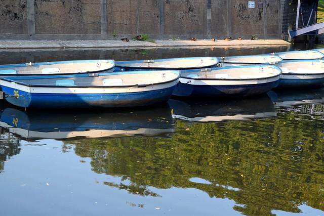 Row Boats on Military Canal, Hythe | www.rachelphipps.com @rachelphipps