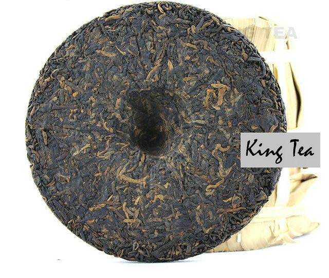 Free Shipping 2008 ShuangJiang MengKu MuYeChun Small Round 145g YunNan MengHai Organic Pu'er Ripe Tea Cooked Shou Cha Weight Loss Slim Beauty
