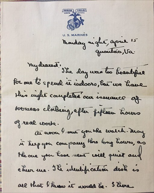 stallings letter helen april 15 1918