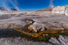 Mineral rich stream from hot springs - El Tatio, Chile