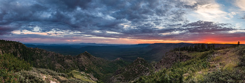 arizona coconinonationalforest fr300 forestservice generalcrooktrail mogollonrim mogollonrimrangerdistrict pentaxk1 usfs forest outdoors pan panorama sunset
