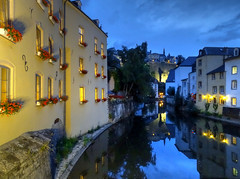The Alzette River and Grund, Luxembourg