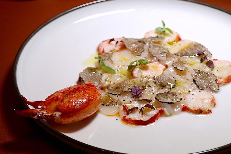 Lobster and Scallop Carpaccio