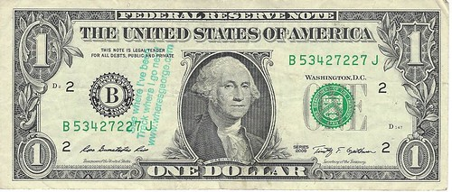 Where's George $1 note
