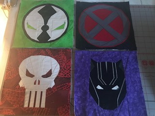 Superheroes: Spawn, X-men, Punisher, Black Panther