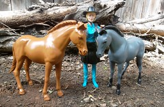 Jane West with Pinto and Smoke
