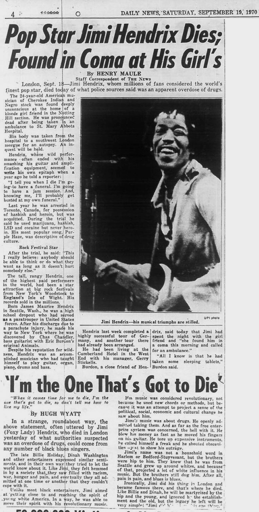 THE DAILY NEWS - NEW YORK CITY, NEW YORK 1970-09-19