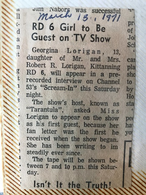 Newspaper clipping about my mom from 1971