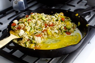 scramble an egg in, if you wish