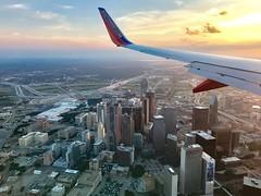 Southwest 737-700 Over Dallas