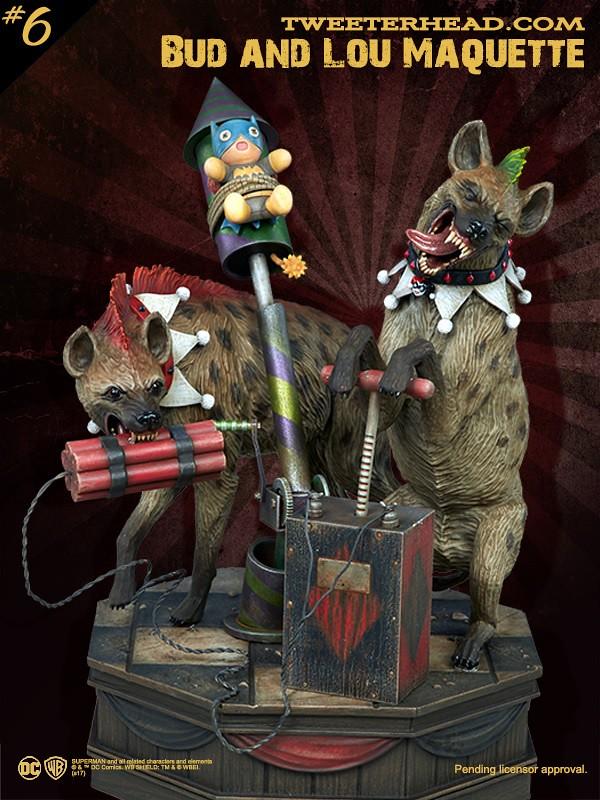 Tweeterhead Super Powers 系列第六彈【小丑女的寵物:巴德、路德】Bud and Lou Maquette 全身雕像作品