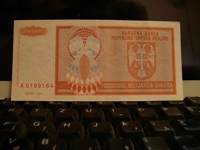 Money of false state on Croatian territory 1991-1995