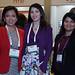 Tamara Leves, de Deloitte; Carolina González, de Codelco, y Marcela Guzmán, de Deloitte