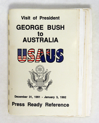 President George H.W. Bush Australia trip book