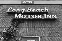 Long Beach Motor Inn - Black And White Version; Long Beach, New York