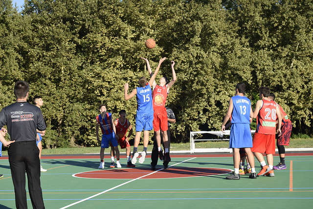 Γεωργιανοί - εγκαίνια μπάσκετ - αγώνας Φίλιππος - ΑΟΚ