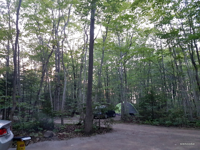 Harmony Acres Campground proximity to neighbours