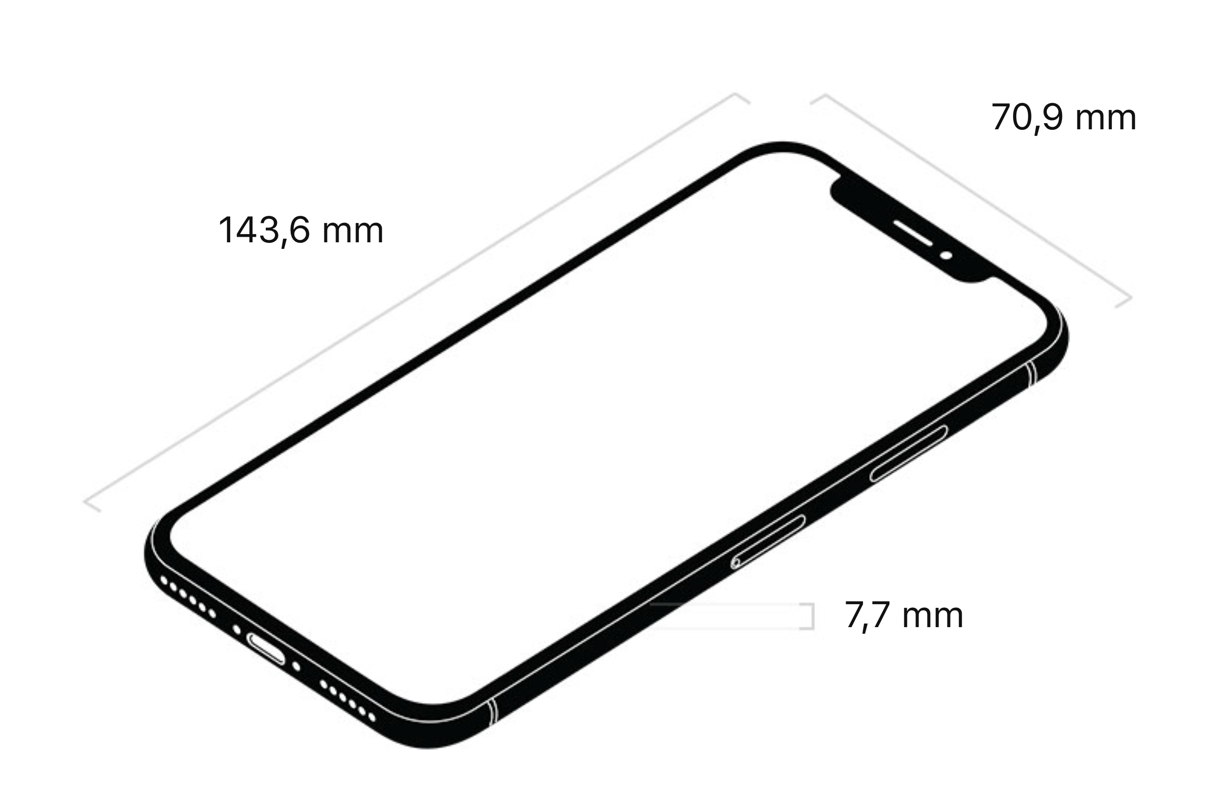 20170912 iPhone X dimensions