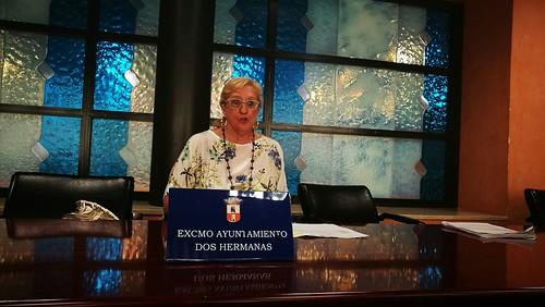 Delegada de Educación, Mª Antonia Naharro, con la Vuelta al Cole