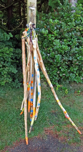 Free walking sticks for Ucluelet's Wild Pacific Trail
