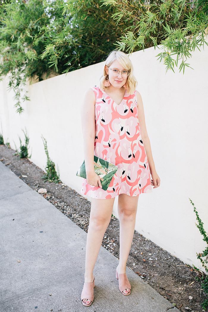 austin style blogger writes like a girl flamingo dress1