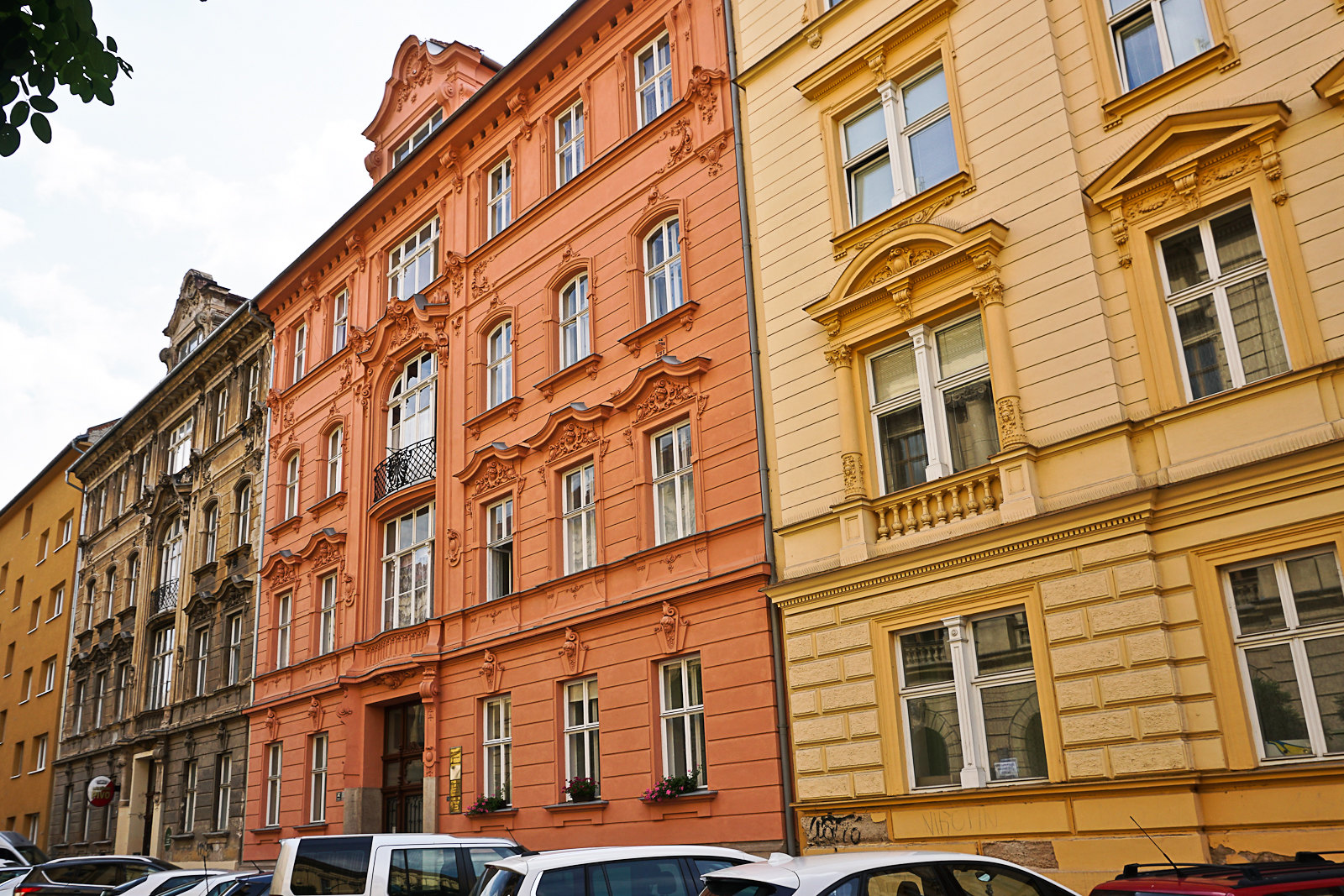 Painted Brno apartment buildings