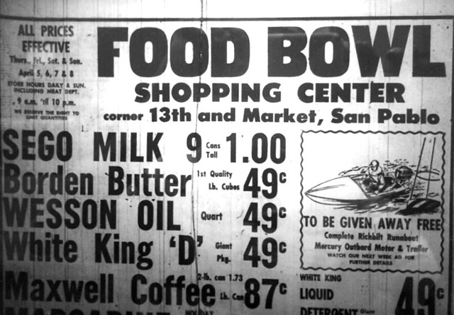 food bowl san pablo 1956