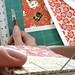 Red Plum Blossom Handmade Book by book binder Ruth Bleakley