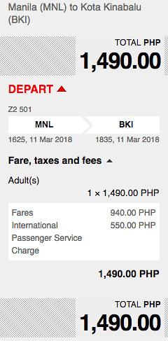 Manila to Kota Kinabalu AirAsia Promo March 11, 2018