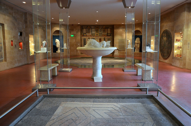 The hall of the Governor's Palace, Aquincum Museum, Budapest