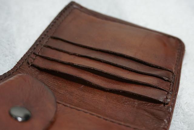 DZET 二つ折り財布 メンズ 本革 二つ折り レザー カード4枚収納 小銭入れ コンパクト 柔らかい 高級 ハンドメイド 職人が作る 二つ折り財布 人気 ブランド ブラウン QB029
