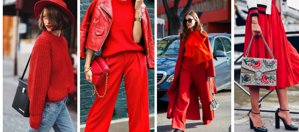 total look rosso