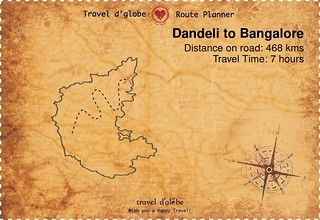 Map from Dandeli to Bangalore