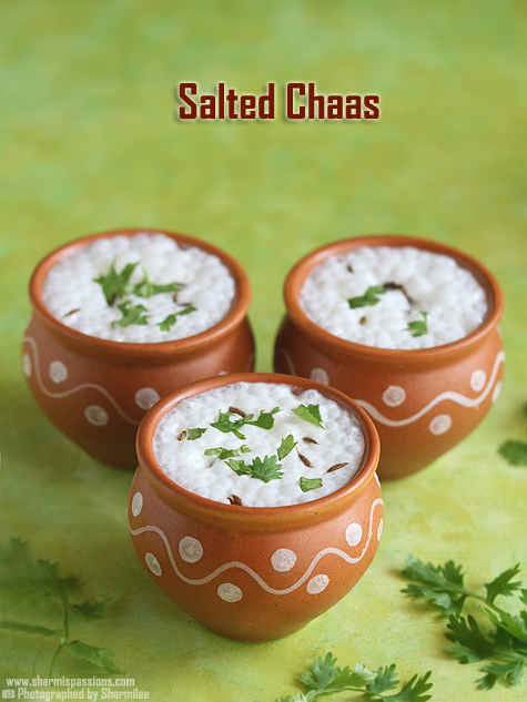 salted chaas recipe