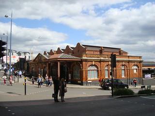 Exterior of the main station building at Birmingham Moor Street